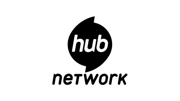 The Hub Network Black and White Logo