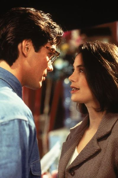"Teri Hatcher and Dean Kain in ""Lois & Clark: The New Adventures of Superman"""