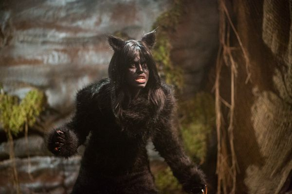 "A Supernatural Were-Cat Terrorizes the Town and Sally is Found Transformed Into a Cat, on ""Spooksville,"" Dec. 7. Featured: Katie Douglas"