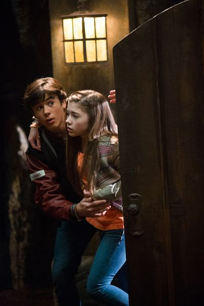 """The Fire Inside"" - Sally Contracts a Fatal Disease, Forcing Enemies to Re-Evaluate Their Alliance, on ""Spooksville,"" Nov. 23. L-R: Keean Johnson and Katie Douglas"
